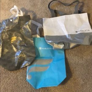 Allotment of 3 Fabletics and Athleta Bags